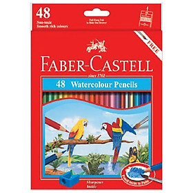 Chì Màu Nước Parrot - 48 Màu Dài Faber-Castell-114468