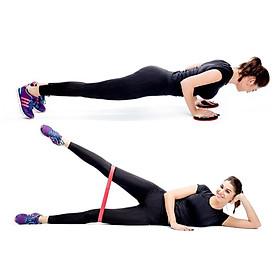 Dây  kháng lực tập mông mini band gym cải thiện vòng 3 hiệu quả AK25-14