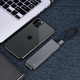 Hộp Dây Cáp Sạc Nhanh 3 Đầu OATSBASF 3 In 1 Type C / Micro USB/ Lightning - Hàng Chính Hãng