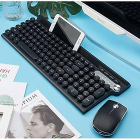 Bộ bàn phím và chuột không dây LT500 phiên bản sạc, tặng kèm lót chuột - Hàng Nhập Khẩu