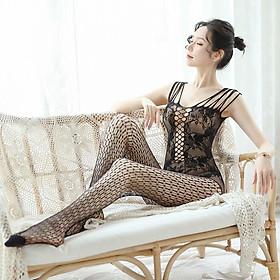 Đồ ngủ lưới Sexy gợi cảm Đồ ngủ Cosplay xuyên thấu liền thân
