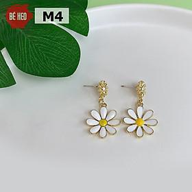 Bông tai nữ hình hoa phong cách Hàn Quốc, khuyên tai dài hình hoa, Trang sức Bé Heo BHBT462