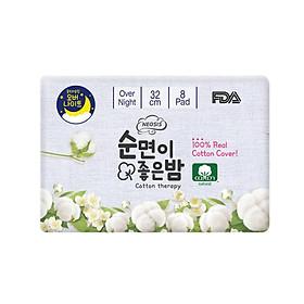BĂNG VỆ SINH HỮU CƠ BAN ĐÊM của Hàn Quốc_NEOSIS COTTON_KT: 32cm_1 gói/8 miếng