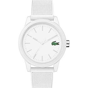 Lacoste Men's TR90 Quartz Watch with Rubber Strap, White, 20 (Model: 2010984)
