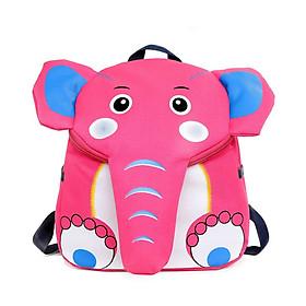 Balo cho bé trai bé gái hình voi nhiều màu cao cấp dễ thương tặng combo 4 món