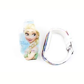 Đồng hồ Elsa đèn LED cho bé gái hottrend dây nhựa liền mảnh phong cách thể thao năng động – DH014