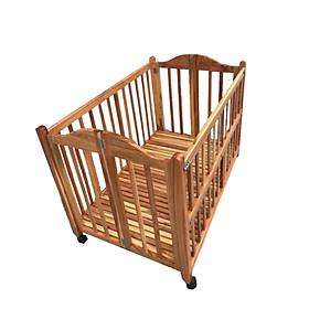 GIƯỜNG CŨI THÔNG MINH CAO CẤP CHO BÉ- hàng loại 1- làm bằng gỗ tự nhiên- thiết kế đẹp- màu cánh gián- kích thước 70*120*80 cm