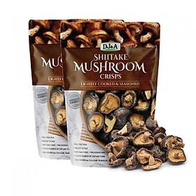 Combo 2 Túi Nấm Hương Sấy Giòn DJ&A Shiitake Mushroom Crisps