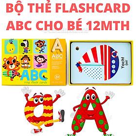 Thẻ học chữ cái ABC tiếng Anh cho bé từ 12 tháng tuổi trở lên