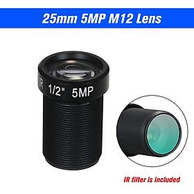 HD 5.0 Megapixel Action Camera Lens 25mm IR Lens M12 Mount CCTV MTV Board Lens 1/2