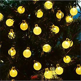 Dây đèn Led Trang trí Bi bọt nước nhỏ bóng không nháy - màu vàng ấm