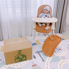 Ghế ăn dặm cho bé full phụ kiện đệm ghế, mặt bàn, đai giữ bé, ghế có bánh xe