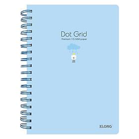Sổ lò xo 200 trang B5 kẻ chấm Dot grid Klong 960