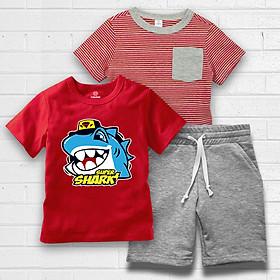 Combo Quần và áo màu đỏ in hình cực chất cho bé Trai thương hiệu TAMOD.
