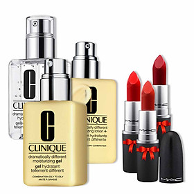 Kem Dưỡng Ẩm Clinique Dramatically Different (Lotion/ Gel/ Hydrating Jelly) 125ml + Tặng 1 Thỏi Son M.A.C (Ruby Woo/ Chili/ Lady Danger)
