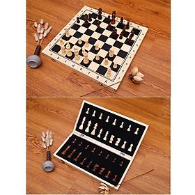 Bộ cờ vua bằng gỗ tiêu chuẩn quốc tế đủ size có nam châm - Hàng xuất Nga
