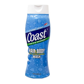 Sữa Tắm Gội Coast Classic Scent Dành Cho Nam 532ml - USA
