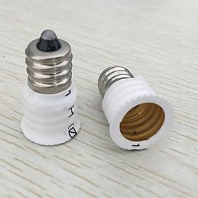 Bộ Chuyển Đổi Đuôi Đèn LED E12 Sang E14 - Trắng