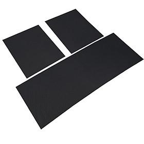 Bộ 3 miếng thảm lót sàn ô tô T25.5 , Thảm sàn xe hơi 5 chỗ DIY, Thảm sàn cao su chống bẩn