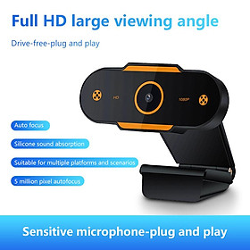 HD USB Webcam 1080P Web Camera for Live Broadcast Video Calling Home Conference Work