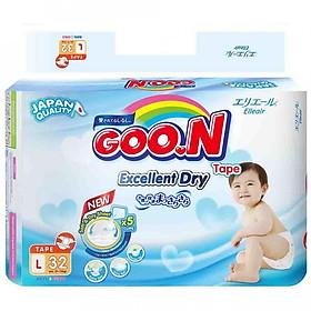 Tã Dán Goo.n Slim Gói Đại L32 (32 Miếng)