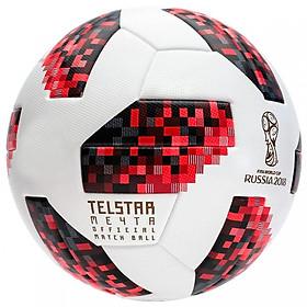 Bóng đá World Cup TELSTAR 2018 số 5- tặng kim bơm bóng + lưới đựng bóng ( đỏ,đen)