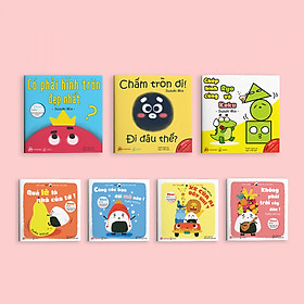 Combo 7 cuốn sách Ehon Điều kỳ diệu của hình khối và Chơi cùng Giri - Chú bé cơm nắm phần 1