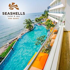 Gói 3N2Đ Seashells Hotel & Spa 5* Phú Quốc - Buffet Sáng, Xe Đón Tiễn Sân Bay, Hồ Bơi, Bãi Biển Riêng, Dành Cho 02 Người Lớn Và 02 Trẻ Em Dưới 06 Tuổi