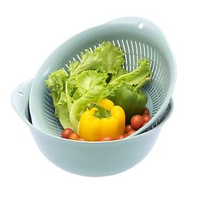 Bộ Thau Rổ Nhựa Cao Cấp Yoko Inochi Nhật Bản - An toàn cho sức khoẻ - Kháng khuẩn khử mùi đảm bảo an toàn vệ sinh thực phẩm - Size 23, 30, 35cm - Giao Màu Ngẫu Nhiên
