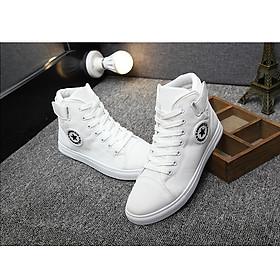 Giày sneaker cao cổ nam vải sao g370
