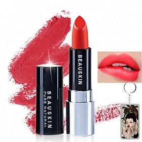 Son lì mềm môi Extra Makeup Matte Lipstick Hàn Quốc 3.5g (B01 - Darling Orange) + Móc khóa