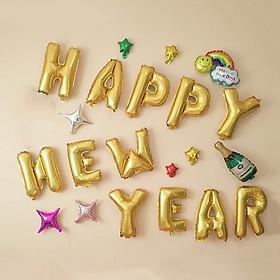 Sét Bóng Trang Trí Năm Mới Happy New Year Chúc Mừng Năm Mới