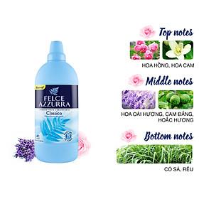 Nước xả vải đậm đặc với 3 tầng hương nước hoa cổ điển Ý hương cỏ Felce Azzurra 1.025 L