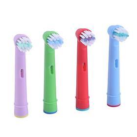 Bộ 4 đầu bàn chải đánh răng điện thay thế cho máy Oral B, máy trẻ em
