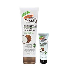 Dầu xã dưỡng tóc dầu dừa giúp dưỡng và phục hồi tóc hư tổn Palmer's Coconut Oil Formula Repairing Conditioner 250ml + Tặng Dầu gội dừa Palmer's 50ml