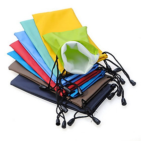 Sunglasses Eyeglasses Glas?ses Soft Cloth Drawstring Cleaning Case Pouch Bag  Carry Bag
