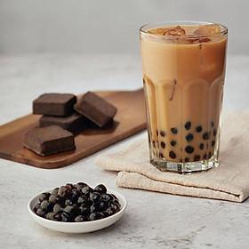 Trà sữa trân châu đường đen Leader - 22g*6 gói+bột trân châu ăn liền 50g*6 gói/ hộp - 2 hộp