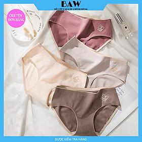 Bộ 5 Quần lót nữ O2 Cotton Ép Không Đường May, chất liệu thoáng mát thương hiệu BAW QLN14