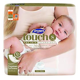 Tã Dán Drypers Touch Cực Đại S70 (70 Miếng)