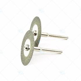 Bộ 10 lưỡi cắt mài mini đa năng đường kính 40mm chân cán 3ly dùng cho máy khoan mài khắc mini da năng