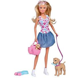 Đồ Chơi Trẻ Em Búp Bê Dắt Chó Con Đi Dạo Steffi Love Puppy Walk 105733310