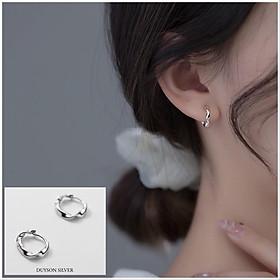 Bông tai bạc nữ Khuyên tai bạc nữ vòng tròn xoắn