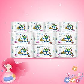 ( Combo 6 + 4) Khăn ướt làm sạch tinh khiết dành cho bé Oma&Baby với công thức Chlorhexidine Digluconate kháng khuẩn an toàn, dịu nhẹ trong khăn ( 6 gói 85 tờ và 4 gói 25 tờ ) - Combo 6 packages of Oma&Baby premium baby wet wipes ( 85 sheets per package