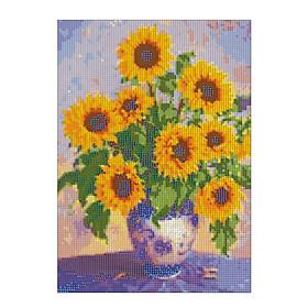 Bộ tranh đính đá resin 5D tự làm 14x18inch/35x45cm kèm hoa văn sắc màu ấn tượng