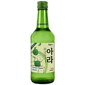 Rượu Soju Korice Hương Táo 12% (360ml) Không hộp