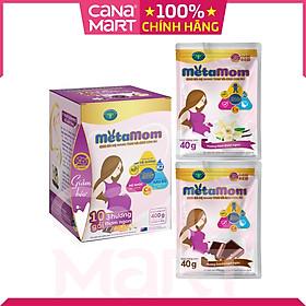 [Hộp 10 gói x 40g] Sữa bột Nutricare MetaMom ít ngọt dành cho phụ nữ mang thai và cho con bú