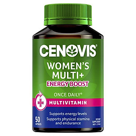Cenovis Once Daily Womens Multi + Energy Boost 50 Capsules