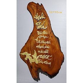 Tranh gỗ thư pháp nghệ thuật chữ Hạnh Phúc