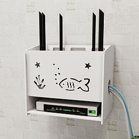Hộp đựng wifi & ổ điện tiện lợi CÁ VÀ TẢO 3 Tầng không cần khoan tường