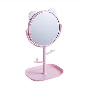 Gương trang điểm tai mèo tròn xoay 360 độ